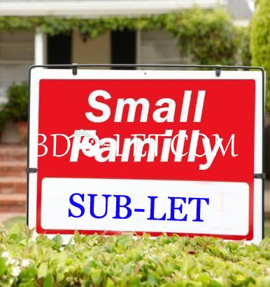 Sublet with family Rent At Mirpur